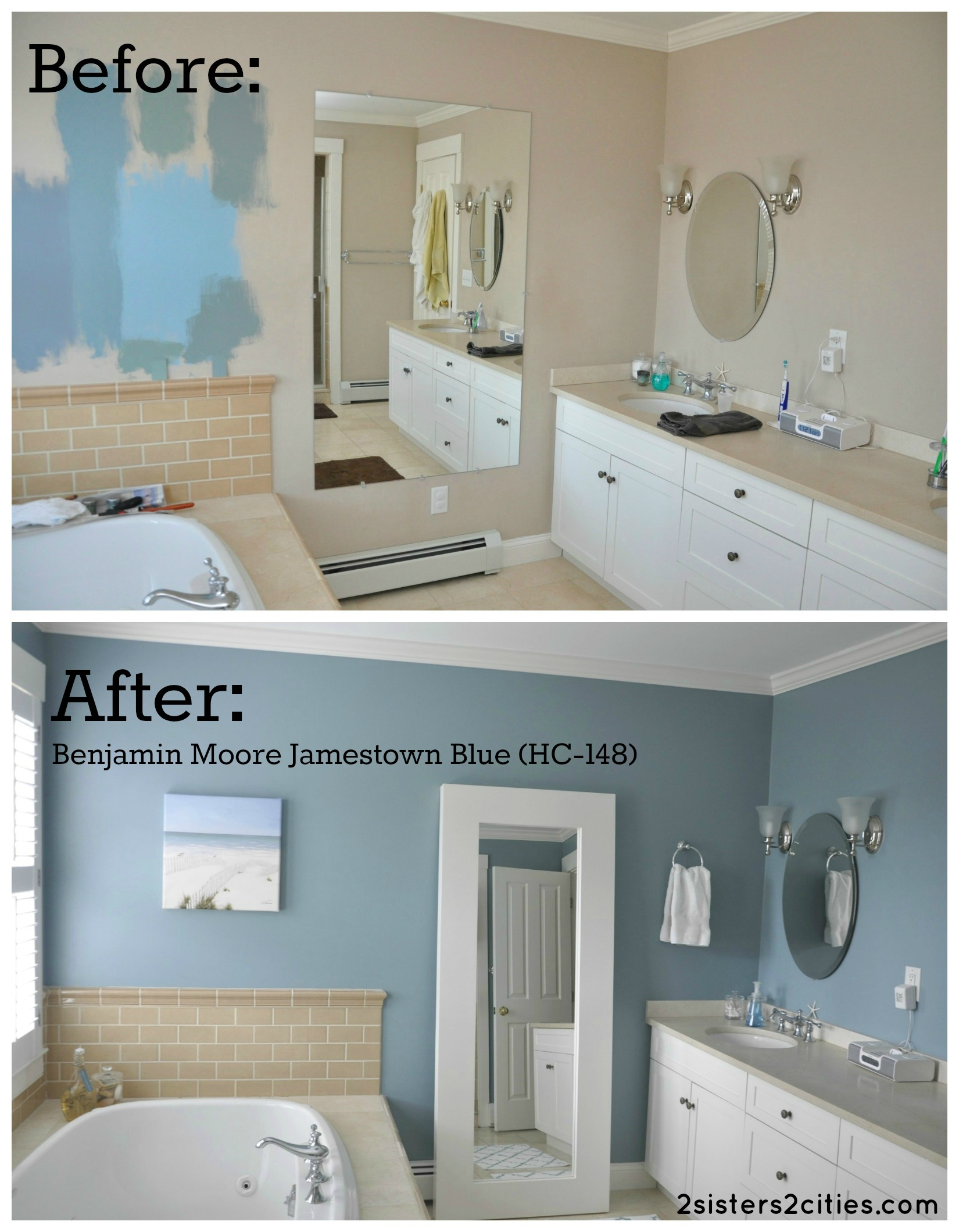 Jamestown blue favorite paint colors blog - Master bedroom and bathroom paint colors ...