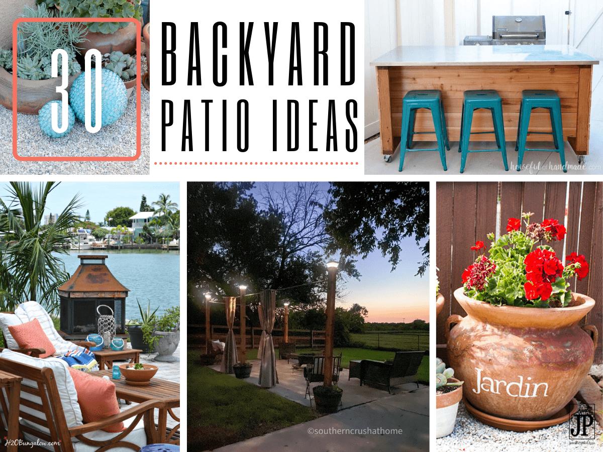 inexpensive easy backyard patio ideas