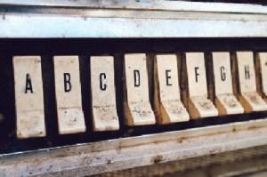 Letters on Piano Keys