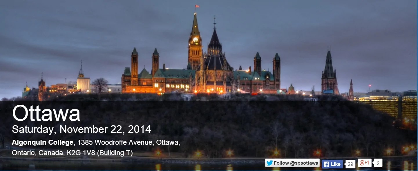 SharePoint Saturday Ottawa 2014