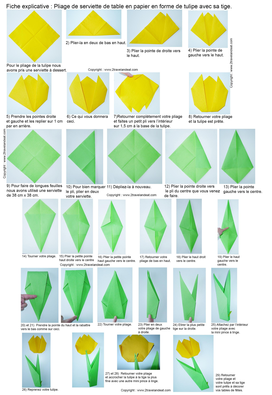 Pliage De Serviettes De Table En Papier Pliage De Papier
