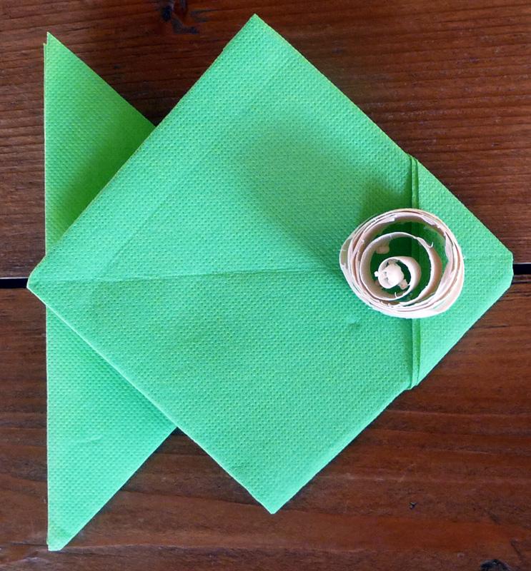 Pliage De Serviette De Table En Forme De Poisson Origami