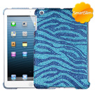 Blue iPad Mini MyBat Zebra Bling Case