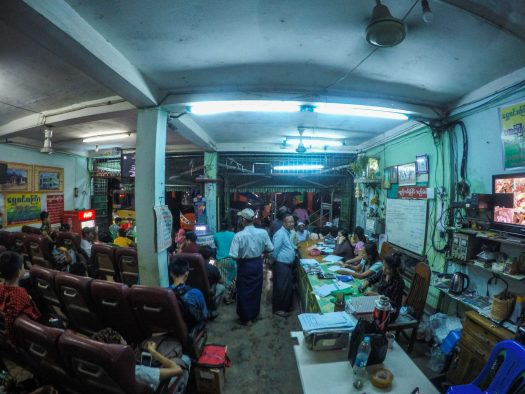 Bus station in Yangon
