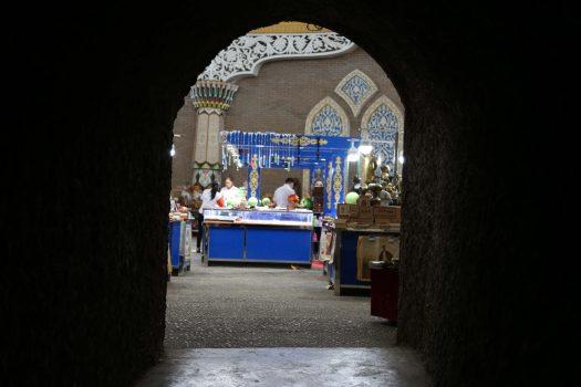 Indoor market at the Karez tunnel museum