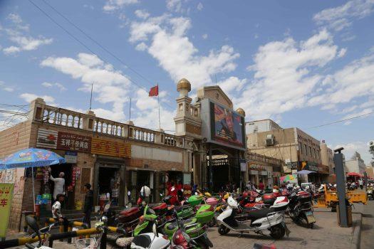 The city bazaar at Turpan