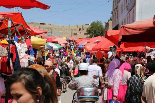Kashgar's busy Sunday Market Bazaar