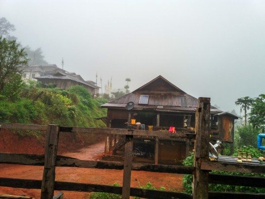 The Palaung village where the trekkers spend the night in
