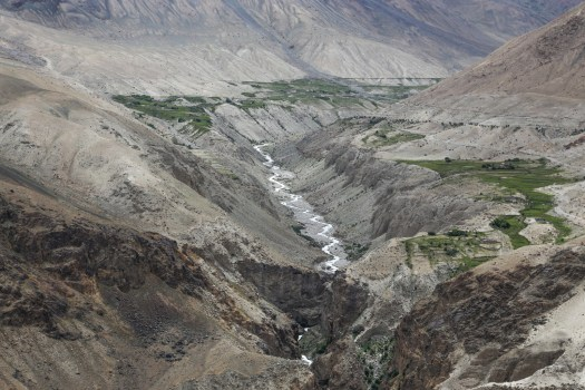 Valley on the way from Nubra Valley
