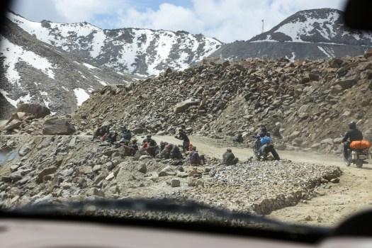 Road to Nubra valley by motorbike