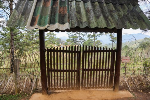 Walk past this gate and the spikes and barbed wires, and you'll find yourself in Myanmar