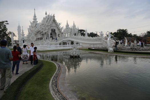 The beautiful White Temple of Chiang Rai
