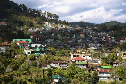 The town of Sagada is built on the slopes of lush forested hills