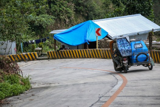 Taking a tricycle from Banaue to Batad