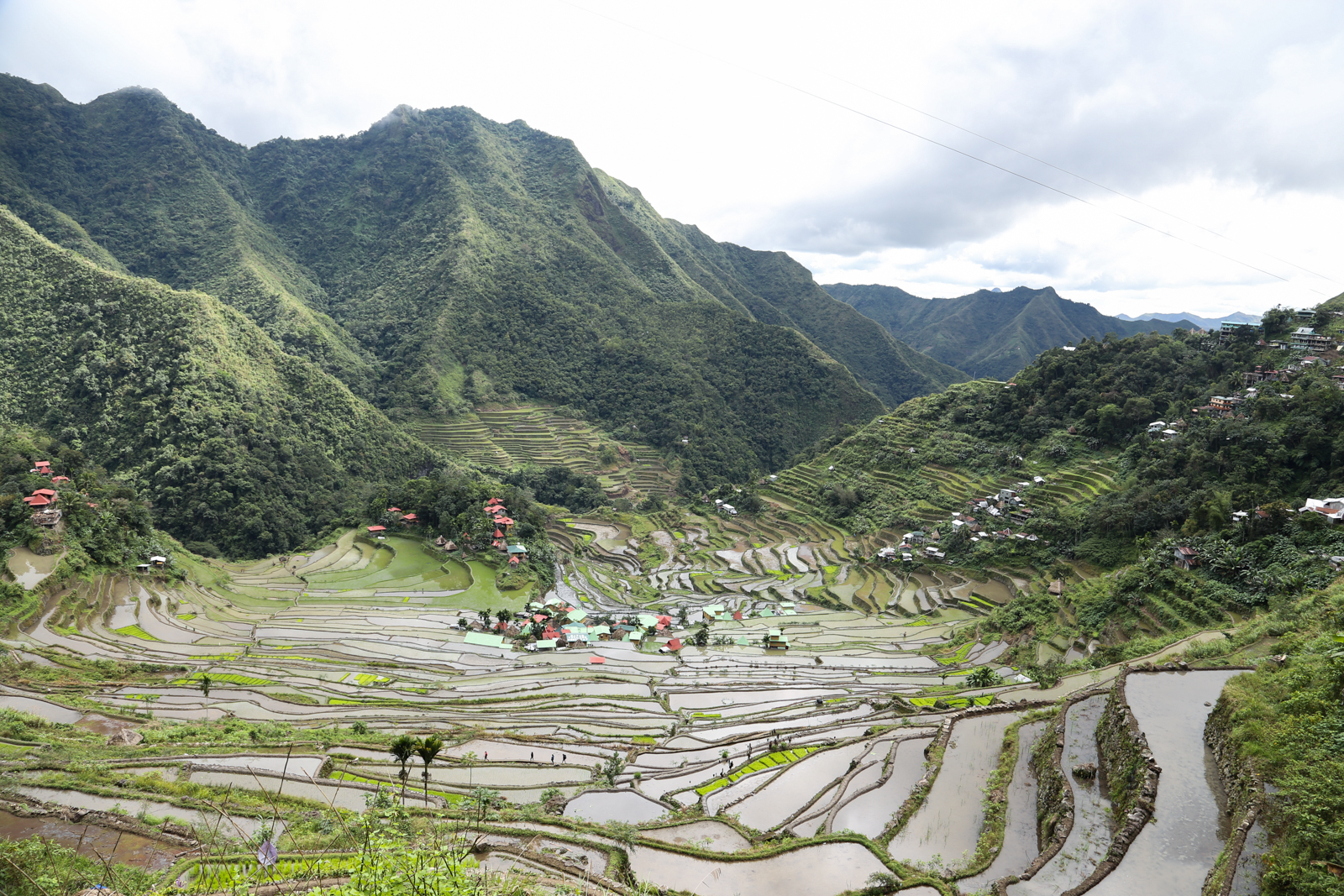 The rice terraces of Batad is a UNESCO World Heritage site