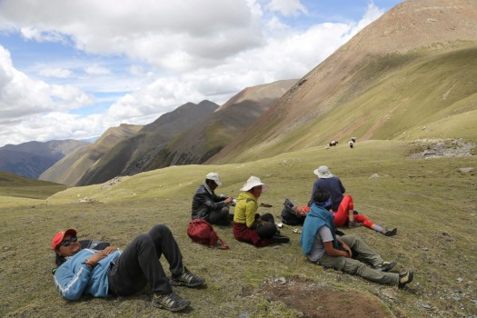 The best spot for a lunch picnic during the trek.