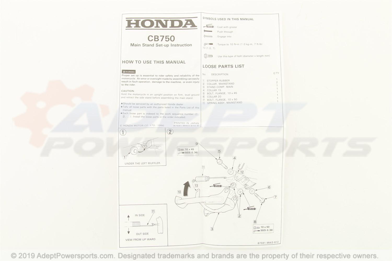Mw3 810 Honda Stand Set Main 145 96