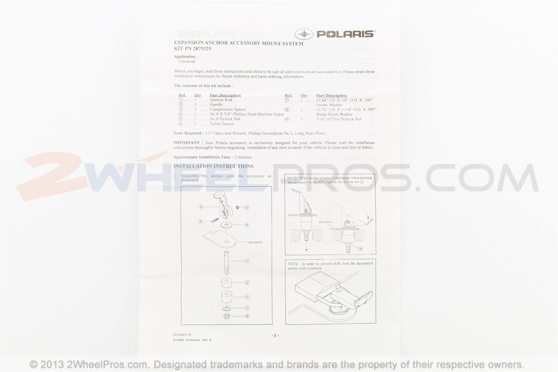 458 Polaris Kit Fuel Can Mount Black