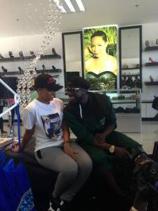 Pokello and Elikem at her shoe store
