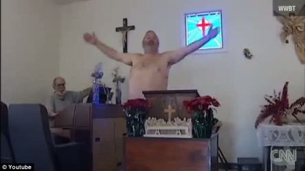 Pastor Parker preaching in the nude