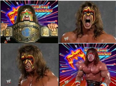 Ultimate Warrior, back in the days when it was cool to paint your face