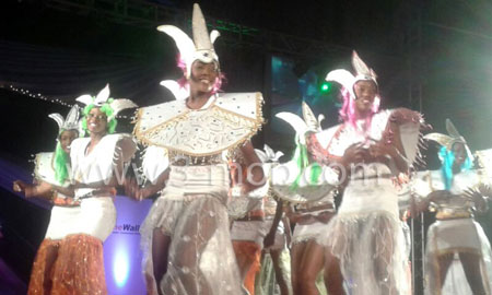 Dancers during Miss Carnival Queen 2014