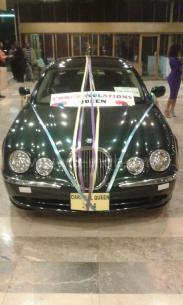 The car Gamu won, a Jaguar 'S' Type