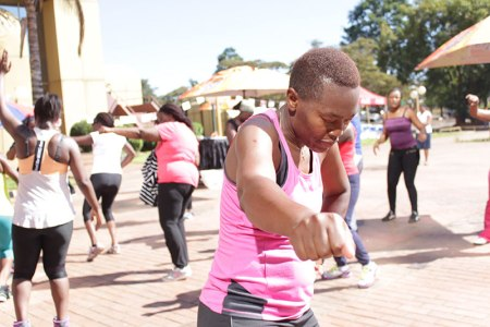 Zumba dancers get down at Rainbow Towers food Fest