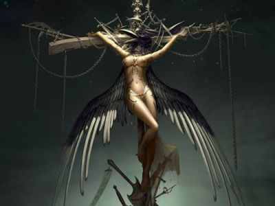Artwork used by Ammara Brown for Crucify Me. - PIC: Forwallpaper.com
