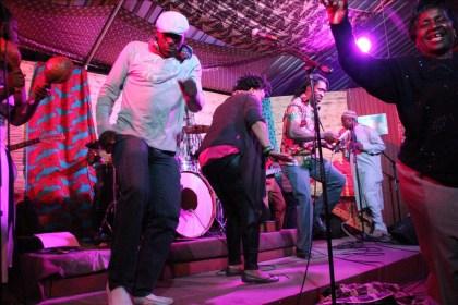 Victor Kunonga and Nyamasvisva on stage at the Chiwoniso tribute  PIC: Fungai Foto/Zimbojam