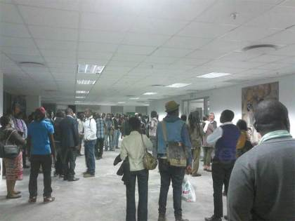 Crowd at the Gwanza Arts launch