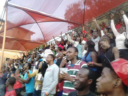 Crowd at Harare Sports Club as Zimbabwe beat Australia in a One Day International match for the first time in31 years
