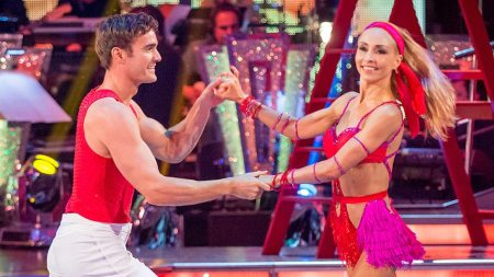 Thom Evans on Strictly Come Dancing with dance p[artner Iveta Lukosiute