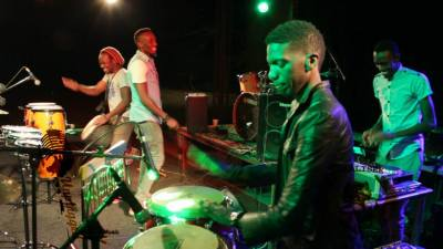 Djemebe Monks are a regular feature of Unplugged Zimbabwe