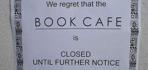 Book Cafe closed