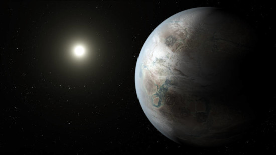 This artistic concept depicts one possible appearance of the planet Kepler-452b, the first near-Earth-size world to be found in the habitable zone of star that is similar to our sun. PIC: NASA