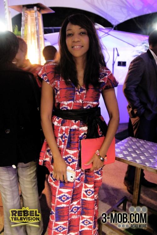 Liz Dziva dressed in Yanai at the Zambezi Magic launch