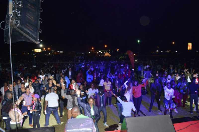 The crowd earlier on at the ZiFM Stereo birthday bash PIC: Zaza Ndlovu