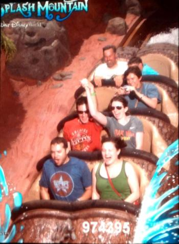 "Ironically we got all of the ride photos except this one, which makes me a little sad. Ben even says this is the one where it looks like I have a ""fun scream."""