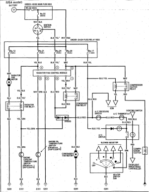 92 Integra Cooling Fan Relay Wiring Diagram | Wiring Library