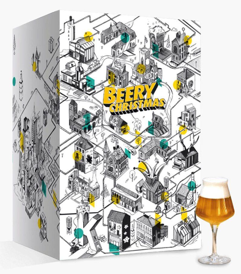 Calendrier de l'avent bière Beery christmas 2020 pour hommes et femmes adulte qui aiment boire de l'alcool