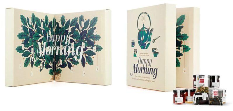 Calendrier de l'avent thé et gourmandises Happy Morning de Nature et Découvertes 2020 pour femme adulte qui aime les petits déjeuners