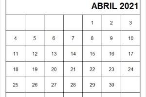 Calendario Abril 2021 Tumblr