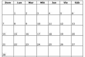 Calendario De Febrero 2021