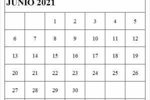 Imagen De Calendario Junio 2021