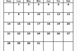 Marzo 2021 Calendario Mes