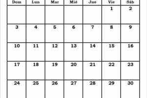 Calendario En Blanco Enero 2021 Word