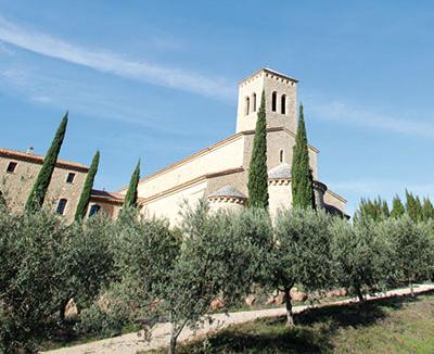 A igreja de Le Barroux [© Massimo Quattrucci]