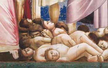 <I>Strage degli innocenti</I>, particolare, Giotto, Cappella degli Scrovegni, Padova