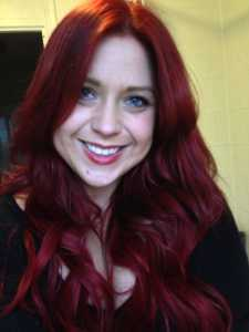 After using Garnier Nutrisse Ultra Color - fiery red 6.60 with extensions